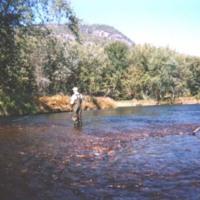 Fishing on the Androscoggin river near Gilead